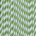 Green Apple Stripe Paper Straws