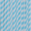 Vintage Blue Stripe Paper Straws