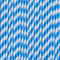 Blue Raspberry Stripe Paper Straws
