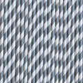 Silver Grey Stripe Paper Straws