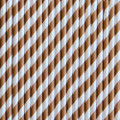 Milk Chocolate Stripe Paper Straws