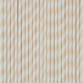 Buttercream Stripe Paper Straws