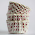 White and Burgundy Sweet Spot Cupcake Liners