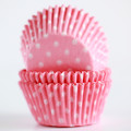 Cotton Candy Pink Polka Dot Cupcake Liners