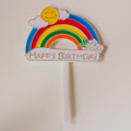 Birthday Rainbow Topper