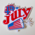 Patriotic Fourth of July Plaque