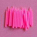 Bubblegum Pink Plain Candles