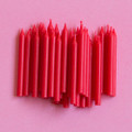 Cherry Red Plain Candles