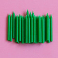 Green Plain Candles