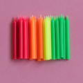Assorted Plain Candles: Neon 