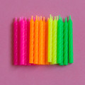 Assorted Spiral Candles: Neon