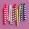 Assorted Large Spiral Candles: Retro and White