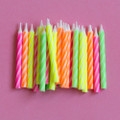 Assorted Spiral Candles: Neon and White