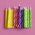 Assorted Spiral Candles: Bright and Double Stripe