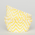 Lemon Yellow Chevron Cupcake Liners