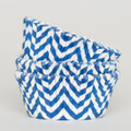 Royal Blue Chevron Cupcake Liners