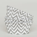 Silver Grey Chevron Cupcake Liners