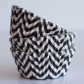 Black Licorice Chevron Cupcake Liners