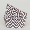 Chocolate Brown Chevron Cupcake Liners