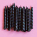 Black Licorice Spiral Candles