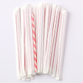 Wrapped Red Stripe Paper Straws