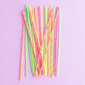 Assorted Spiral Candles: Neon Skinny Tall