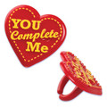 "Heart ""You Complete Me"" Toppers"