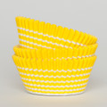 Lemon Yellow Vanishing Lines Cupcake Liners