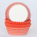 Tangerine Orange Vanishing Lines Cupcake Liners