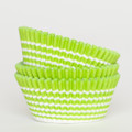 Lime Green Vanishing Lines Cupcake Liners