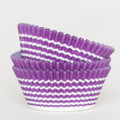 Purple Grape Vanishing Lines Cupcake Liners