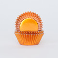 Mini Pumpkin Orange Foil Cupcake Liners