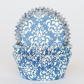 Royal Blue Damask Cupcake Liners
