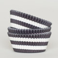 Black Licorice Circus Stripe Cupcake Liners