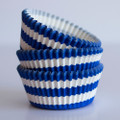 Royal Blue Circus Stripe Cupcake Liners