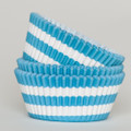 Turquoise Circus Stripe Cupcake Liners