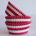 Cherry Red Circus Stripe Cupcake Liners