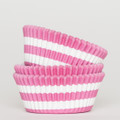 Raspberry Pink Circus Stripe Cupcake Liners