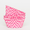 Bubblegum Pink and Cotton Candy Pink Chevron Cupcake Liners