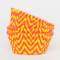 Tangerine Orange and Lemon Yellow Chevron Cupcake Liners