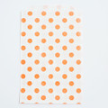 Tangerine Orange Polka Dot Bags