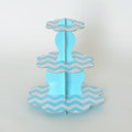Turquoise Chevron Cupcake Stand