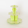 Lime Green Chevron Cupcake Stand