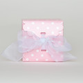 Cotton Candy Pink Dot Tie-Top Boxes