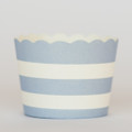 Favor Cups: Light Blue Stripe