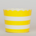 Favor Cups: Lemon Yellow Stripe