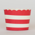 Favor Cups: Cherry Red Stripe