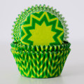 Lime Green and Green Chevron Cupcake Liners
