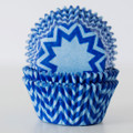 Vintage Blue and Royal Blue Chevron Cupcake Liners