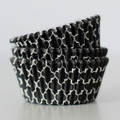 Black Licorice Quatrefoil Cupcake Liners